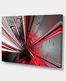 "Designart Fractal 3D Deep Into Middle Contemporary Canvas Art Print - 32"" X 16"""
