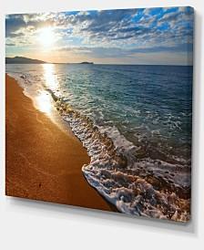"Designart Gili Island Tropical Beach Large Seashore Canvas Print - 40"" X 30"""
