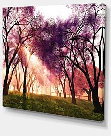 "Designart Cherry Blossoms Japan Garden Landscape Canvas Art Print - 40"" X 30"""