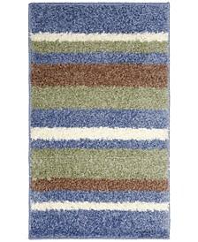 Avalon Non-Slip Stripe Shaggy Bath Mat
