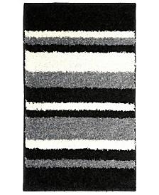 Home Dynamix Avalon Non-Slip Stripe Shaggy Bath Mat
