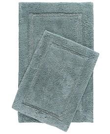 Home Dynamix Nicole Miller Newton Reversible Cut and Loop Framed Border 2-Piece Cotton Bath Mat Set