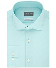 Michael Kors Men's Slim-Fit Non-Iron Performance Airsoft Stretch Green Dress Shirt