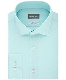 Michael Kors Men's Slim-Fit Non-Iron Performance Airsoft Stretch Green Dress Shirt