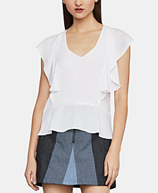BCBGMAXAZRIA Ruffled Top