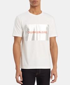Calvin Klein Jeans Men's Silver Box Logo T-Shirt