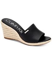 84a28ccca Calvin Klein Women's Britta Wedge Sandals, Created For Macy's