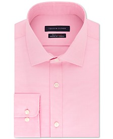 Tommy Hilfiger Men's TH Flex Athletic Fit Non-Iron Stretch Tonal Micro-Stripe Dress Shirt