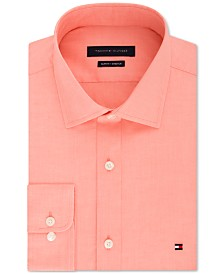 Tommy Hilfiger Men's Slim-Fit Stretch Solid Dress Shirt, Online Exclusive Created for Macy's