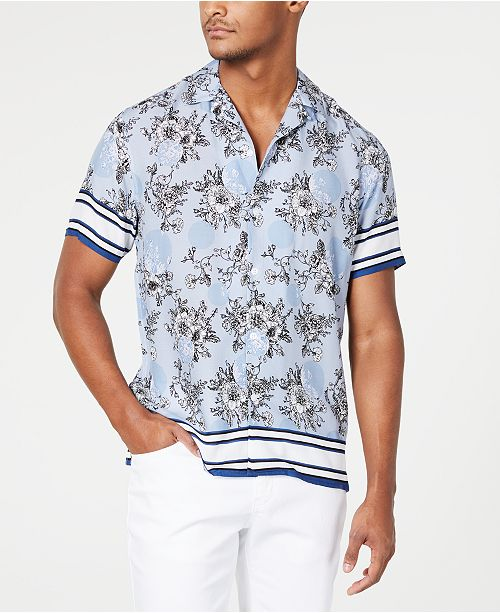 INC International Concepts I.N.C. Men's Wesley Floral Shirt, Created for Macy's