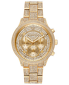 Michael Kors Runway Collection Stainless Steel & Crystal Bracelet Watches