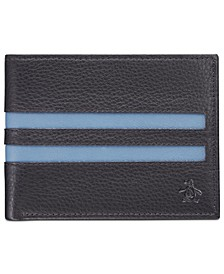 Men's Striped Leather Wallet