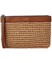 Lauren Ralph Lauren Tolton Crochet Straw Wristlet 774e2a5167832