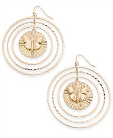 Thalia Sodi Gold-Tone Butterfly Orbital Drop Earrings, Created for Macy's