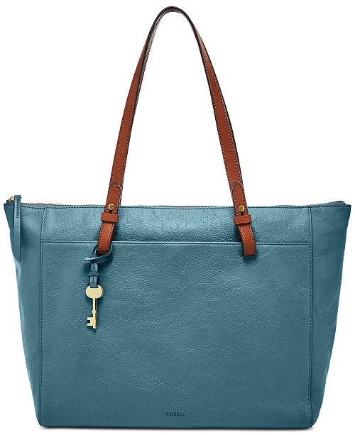 990b806e96 Fossil Rachel Leather Tote With Zipper & Reviews - Handbags ...
