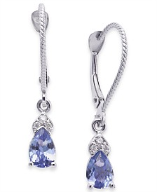 Tanzanite (3/4 ct. t.w.) & Diamond Accent Drop Earrings in 14k White Gold