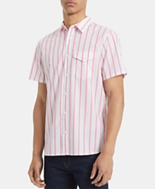 Calvin Klein Men's Classic-Fit Yarn-Dyed Stripe Shirt