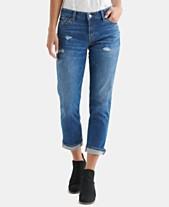 5fa3528d9fe Lucky Brand Distressed Capri Jeans
