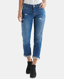 Lucky Brand Distressed Capri Jeans