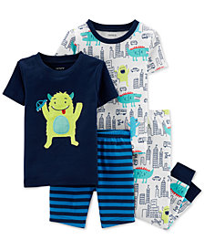 Carter's Toddler Boys 4-Pc. Monster Cotton Pajamas Set