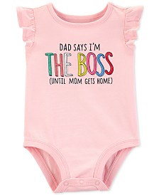 Carter's Baby Girls The Boss Graphic Cotton Bodysuit