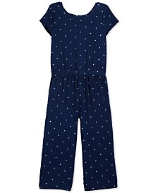 Carter's Little Girls Dot-Print Jumpsuit