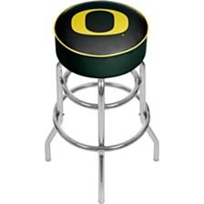 University of Oregon Swivel Bar Stool with Back - Carbon Fiber