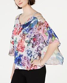 MSK Floral Overlay Top