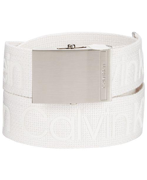Calvin Klein Men's Logo Webbing Belt