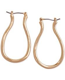 Gold-Tone Oval Medium Hoop Earrings