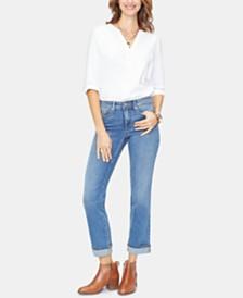 NYDJ Marilyn Cuffed-Hem Ankle Jeans