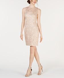 Calvin Klein Lace & Sequin Sheath Dress