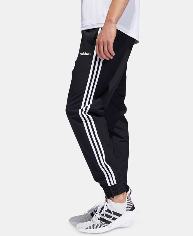 adidas Men's Three-Stripe Woven Joggers