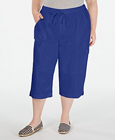 Plus Size Cotton Edna Capris, Created for Macy's