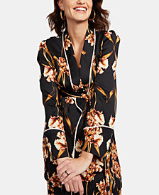 BCBGMaxazria Maternity Tie-Front Jacket