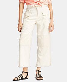 Polo Ralph Lauren Denim Wide-Leg Cargo Pants