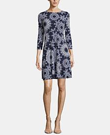 ECI Pull-On Printed Dress
