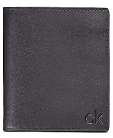 Calvin Klein Embossed Logo Leather Wallet