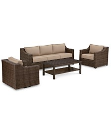 Camden Outdoor Aluminum 4-Pc. Seating Set (1 Sofa, 1 Chair, 1 Swivel Chair & 1 Coffee Table), Created for Macy's