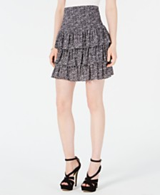 MICHAEL Michael Kors Springtime Smocked Tiered Skirt, Regular & Petite