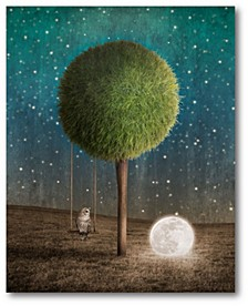 """Tappy and The Moon Gallery-Wrapped Canvas Wall Art - 16"""" x 20"""""""