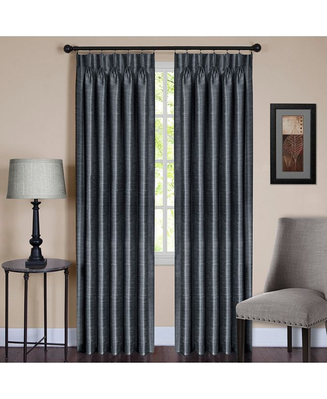 Achim Parker Pinch Pleat Window Curtain Panel, 34x84
