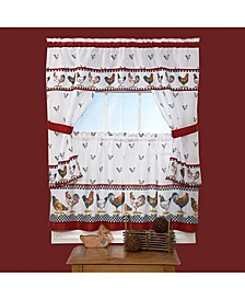 Top of the Morning Cottage Window Curtain Set, 57x36