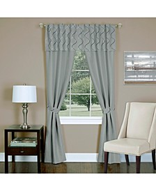 Trellis 5 Piece Window Curtain Set, 55x84