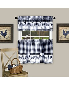 Barnyard Curtain Tier and Valance Set, 58x36