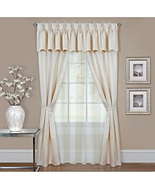 Claire 6 Pc Window Curtain Set, 55x63