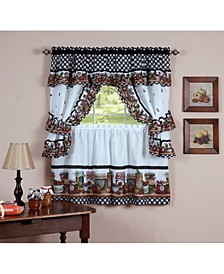 Mason Jars Window Curtain Set, 57x36