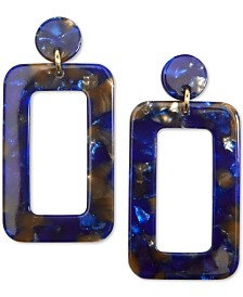 Zenzii Gold-Tone Acetate Cutout Drop Earrings
