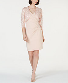 Jessica Howard Soutache-Detail Short Dress & Jacket
