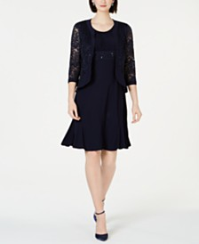R & M Richards Lace & Sequin Jacket & Dress